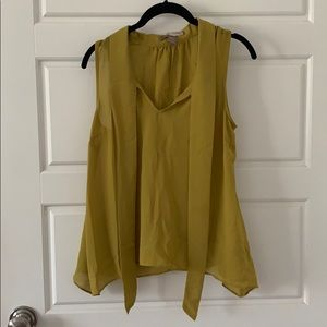 Mustard green sleeveless top